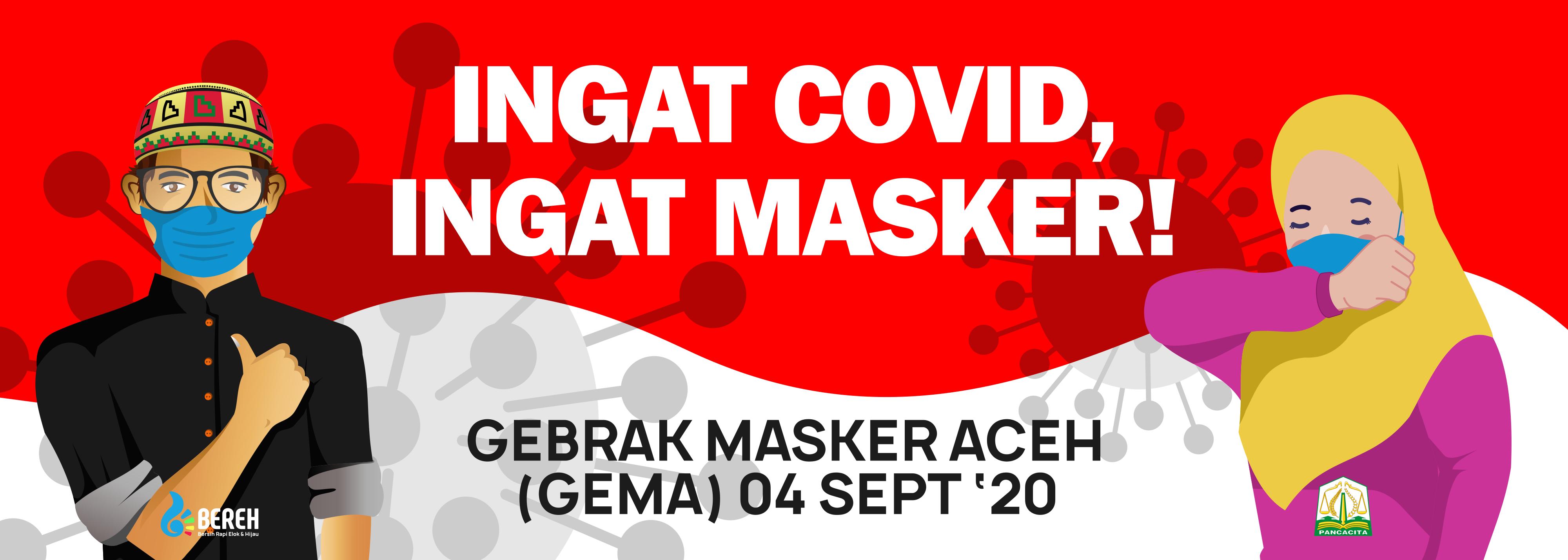 Pemerintah Aceh Kampanyekan Pemakaian Masker Melalui Stiker Mobil - Dinas  Lingkungan Hidup dan Kehutanan